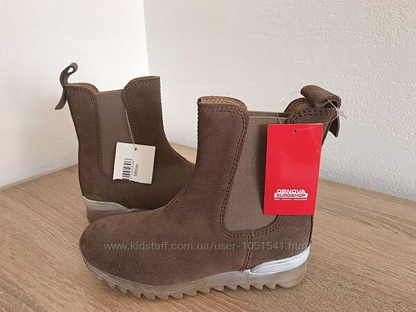 Замшевые ботинки Bisgaard , стелька кожа размер 28  17 см