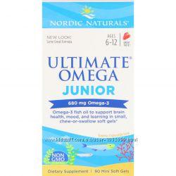 Nordic Naturals, омега для подростков, Junior, 500 мг, 90 шт