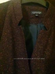 Брендовый пиджак Top Shop L XL жакет без ворота