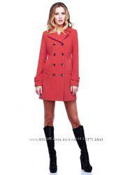 Новое демисезонное пальто диона нью вери 48р. коралл.