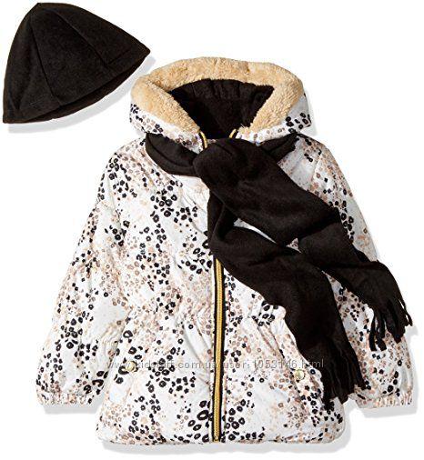 Куртка для девочки Pink Platinum 3T c шапочкой и шарфом