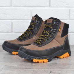 Ботинки женские кожаные зимние Ecco натуральный мех черные беж 697b859d986b4