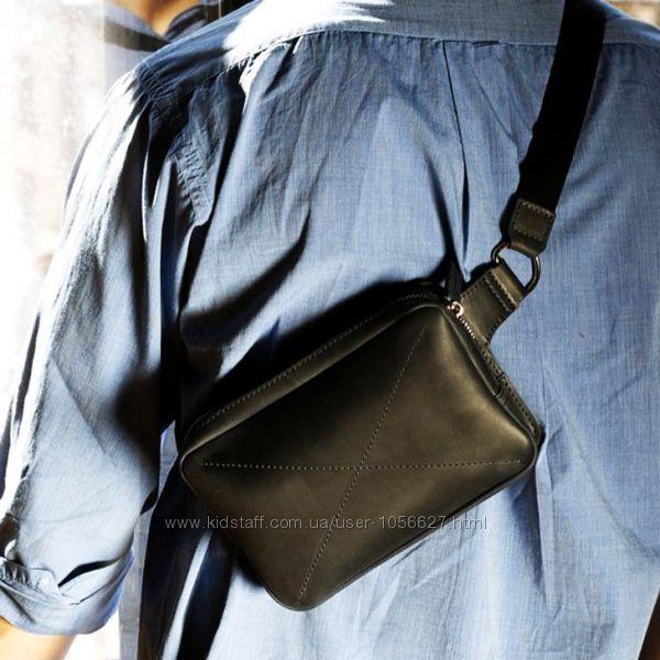 Кожаная поясная сумка DropBag мужская