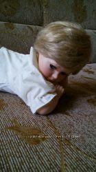 Коллекционная, лежащая фарфоровая кукла