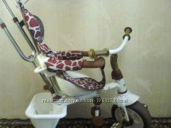 Трёхколёсный велосипед с родительской ручкой Сафари