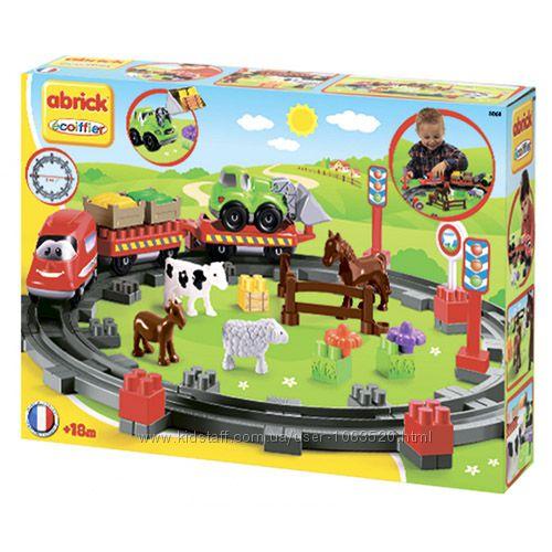 003068 Ecoiffier Abrick Конструктор Сельская железная дорога