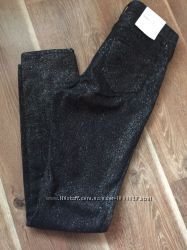 Штаны брюки  h&m 34 36p блестящие