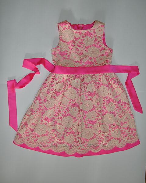 Детское нарядное платье из кремового кружева