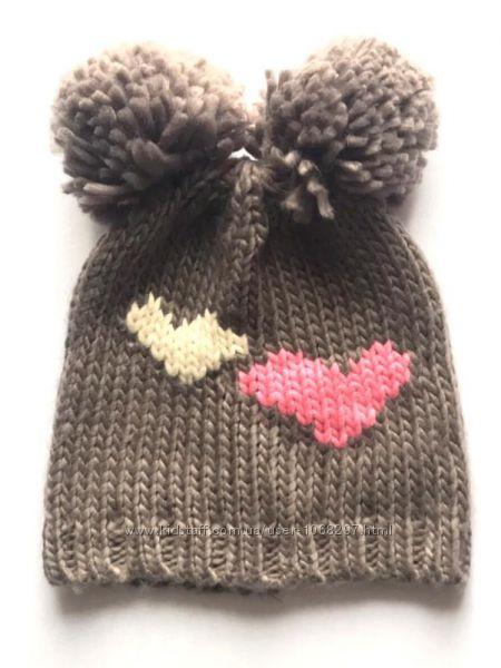 Детская шапка с двумя помпонами, Takko Fashion, 2-8 лет.