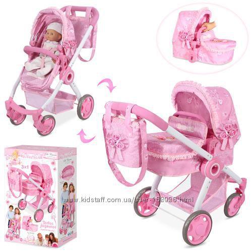 Романтик 80714 кукольная коляска универсальная DeCuevas Classic 80715
