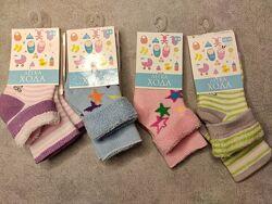 Махровые носки, размер для новорождённых