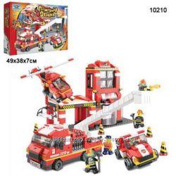 Конструктор SLUBAN 10210 Пожарная охрана 727 деталей