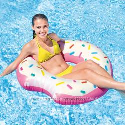 Пончик надкушенный надувной круг для пляжа Intex 56265 Отзывы