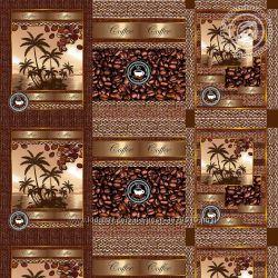 Вафельная ткань, Аромат кофе, 150 см ширина, розница, хлопок