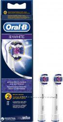 Насадки для электрической зубной щетки Oral B 3D White 2 шт