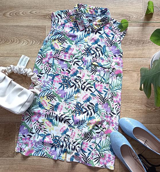 Блузка на пуговицах в цветочный принт Primark
