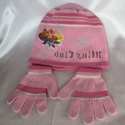 Шапочка с перчатками Winx размер 54