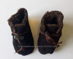 Пинетки- сапожки меховые натуральные 10-11 см
