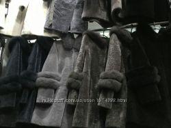 Пальто с мехом песца