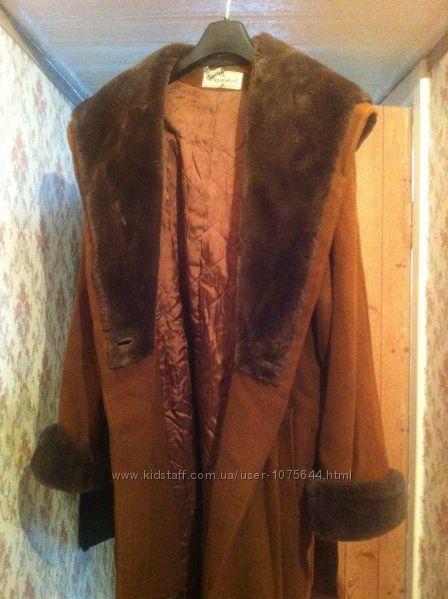 Теплое, качественное длинное зимнее кашемировое пальто kashlana турция.