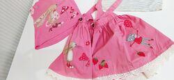 Комплект Next Некст кролики юбка-сарафан и футболки