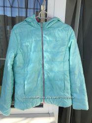 Двухсторонняя демисезонная куртка Benetton на 11-12 лет, с капюшоном