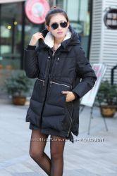 Зимняя тёплая длинная куртка, размер С-М, полиэстер. ж