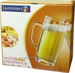Набор пивных кружек Luminarc Minden 2 шт 630 мл Франция