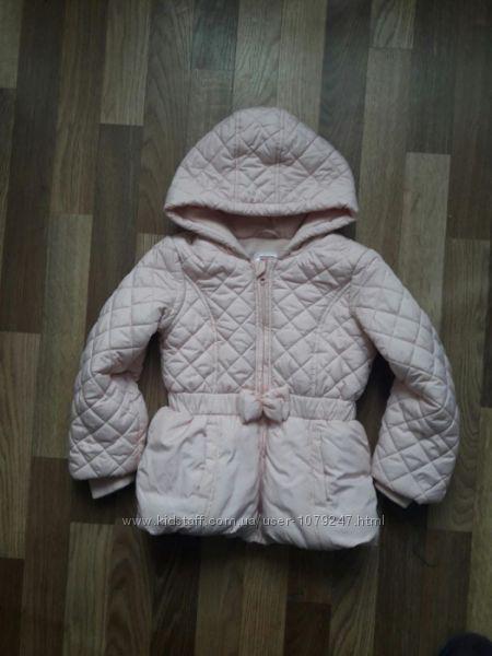 Теплая курточка для модницы 5-7 лет