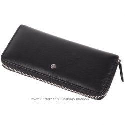 Удобный женский кошелек из натуральной кожи черного цвета AL-W38-BL