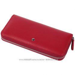Стильный женский кошелек из натуральной кожи красный al-w38-red