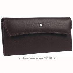 Женский кожаный кошелек коричневый AL-W58BR