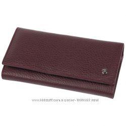 Качественный женский кошелек из натуральной кожи бордовый AL634-2-BD