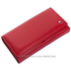 Женский кожаный кошелек f. leather collection al-w46 red красный