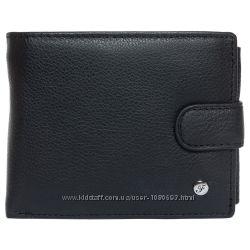 Портмоне мужское кожаное черное F. Leather Collection ALRT-F8941 Black