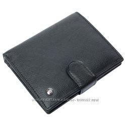 Портмоне мужское кожаное черное F. Leather Collection ALRT-F42 Black