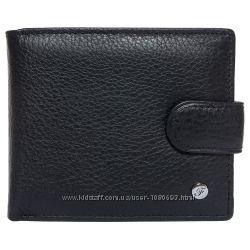 Портмоне мужское кожаное черное F. Leather Collection ALRT-F27 Black