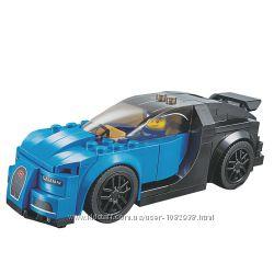 Конструктор гоночная машина Bugatti Chiron на 204 детали