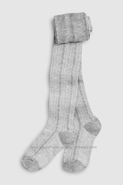 Текстурированные колготы серого цвета NEXT на рост 116 см