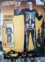 Комбинезон скелет костюм для вечеринки скелет для хэллоуина halloween хэлоу