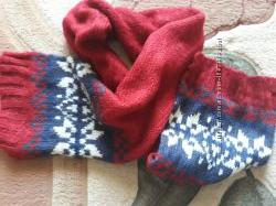 Фирменный тёплый шарф крупной вязки