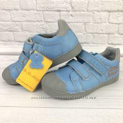Кожаные туфли для мальчика D. D. Step, кеды, липучки, в школу, кроссовки