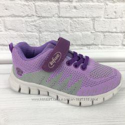 новые кроссовки кеды польские для девочки Befado текстильные на липучке нов