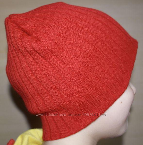 рубчик шапка бини плотная ровная вязка
