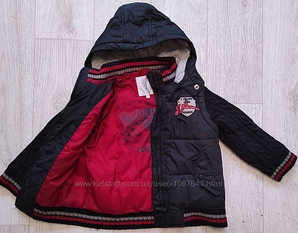 Мальчику jasper conran курточка свитер жилет детская стеганная деми кофта