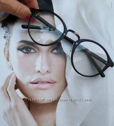 ХИТ Очки имиджевые, круглые, оправа ретро