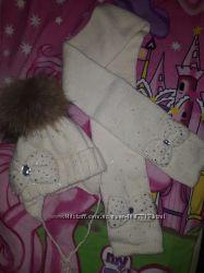 Продам шапка шарф для девочки