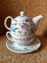 Набор чайник заварочный с чашкой Gallery фарфор