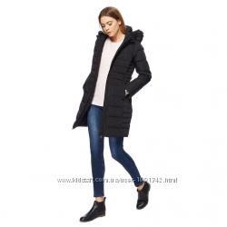 Черная куртка пуховик maine new england натуральный классика приталенный