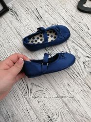 Стильные атласные туфли туфельки балетки для девочки H&M HM 20 21 размер